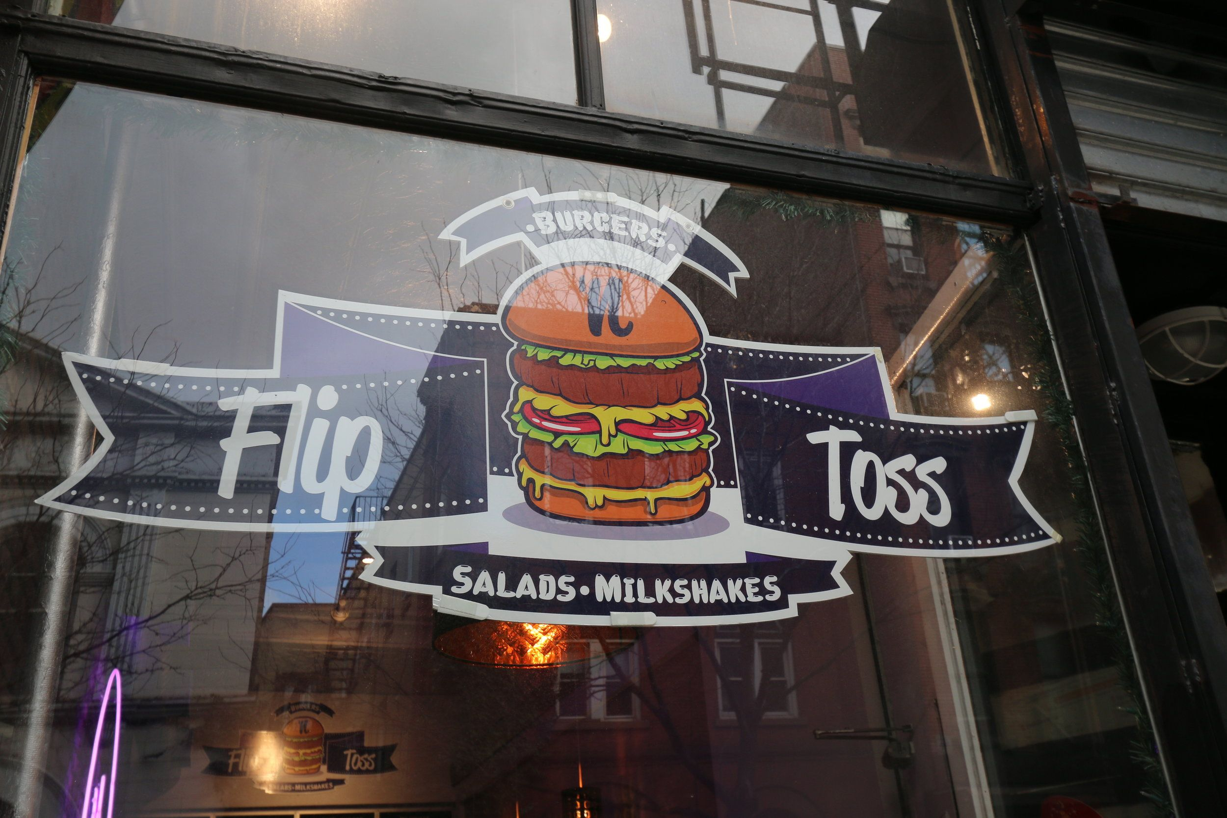 Flip n toss nyc new york food tossed salad lets run