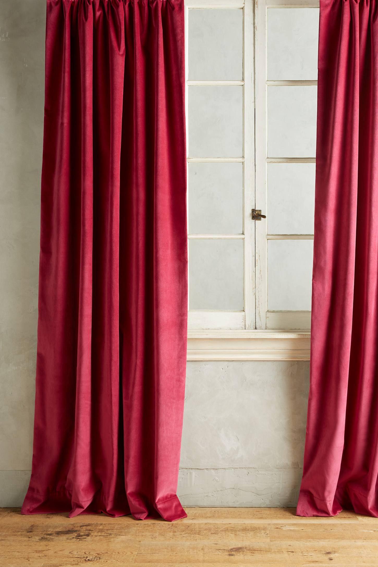 Matte Velvet Curtain Velvet Curtains Elegant Curtains Shabby Chic Curtains