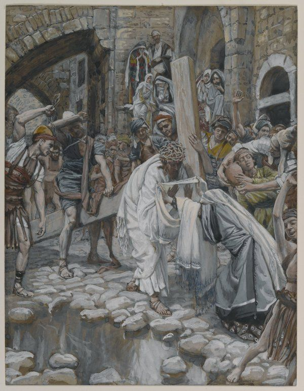 Holy Woman Wipes the Face of Jesus - James J.Tissot