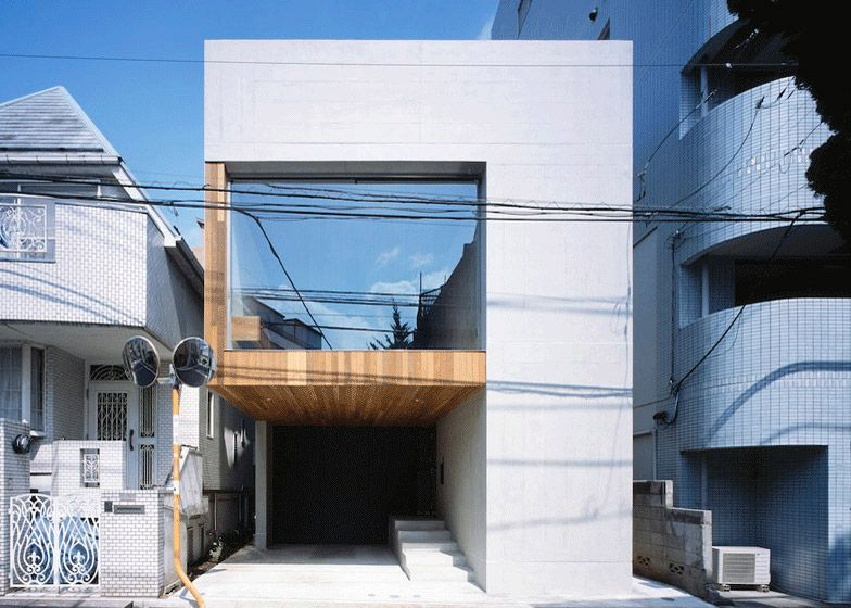 Making the Most of a Confined Lot - Frame House | Japanese house ...