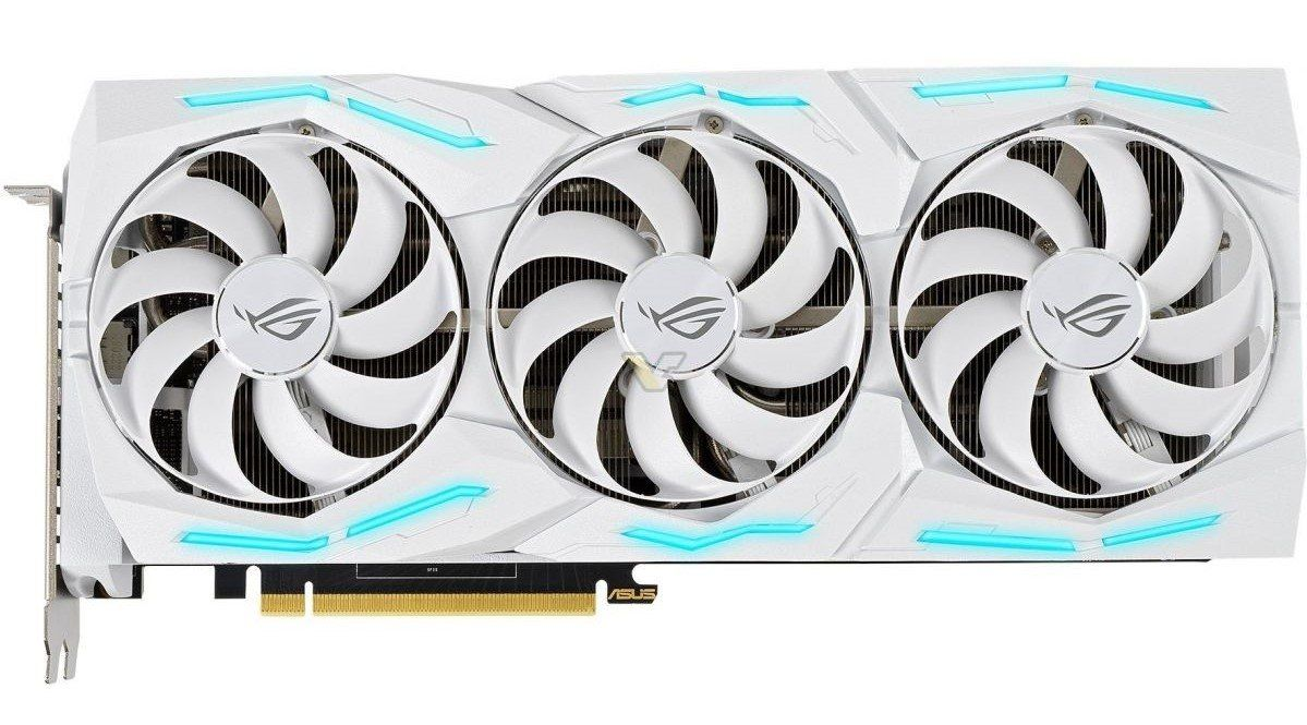 Asus Teases Geforce Rtx 2080 Super Rog Strix White Graphics Card Graphic Card Asus Galax
