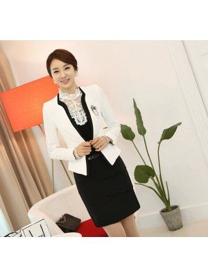 Hot Selling Blazer Long Sleeve Fitted Bow Professional Suits Cotton Work White Blazers