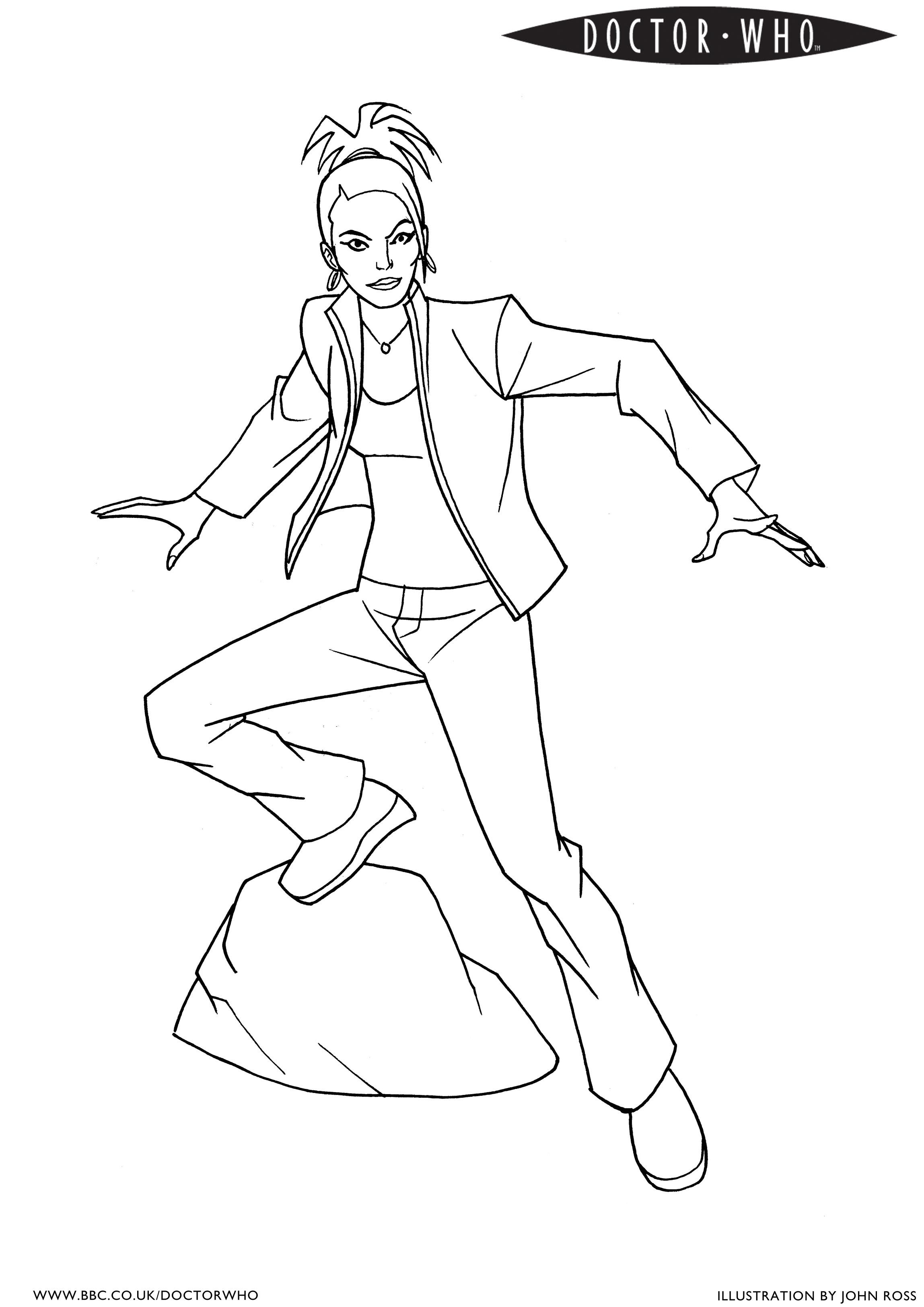 Coloring pages for doctors - Bbc Doctor Who Coloring Page 4 Martha