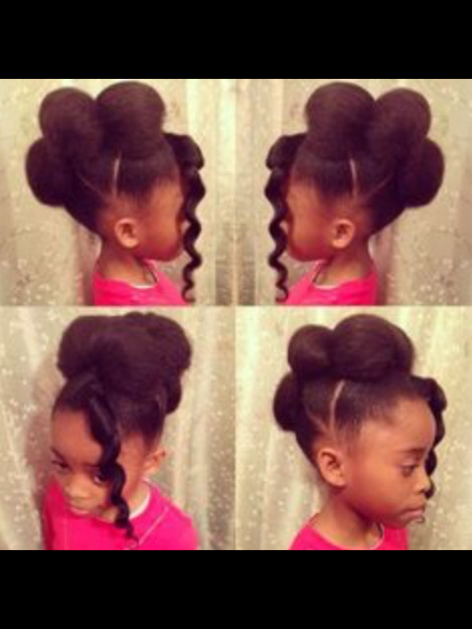 cute puffy buns on all ages actually | hairstyles | natural