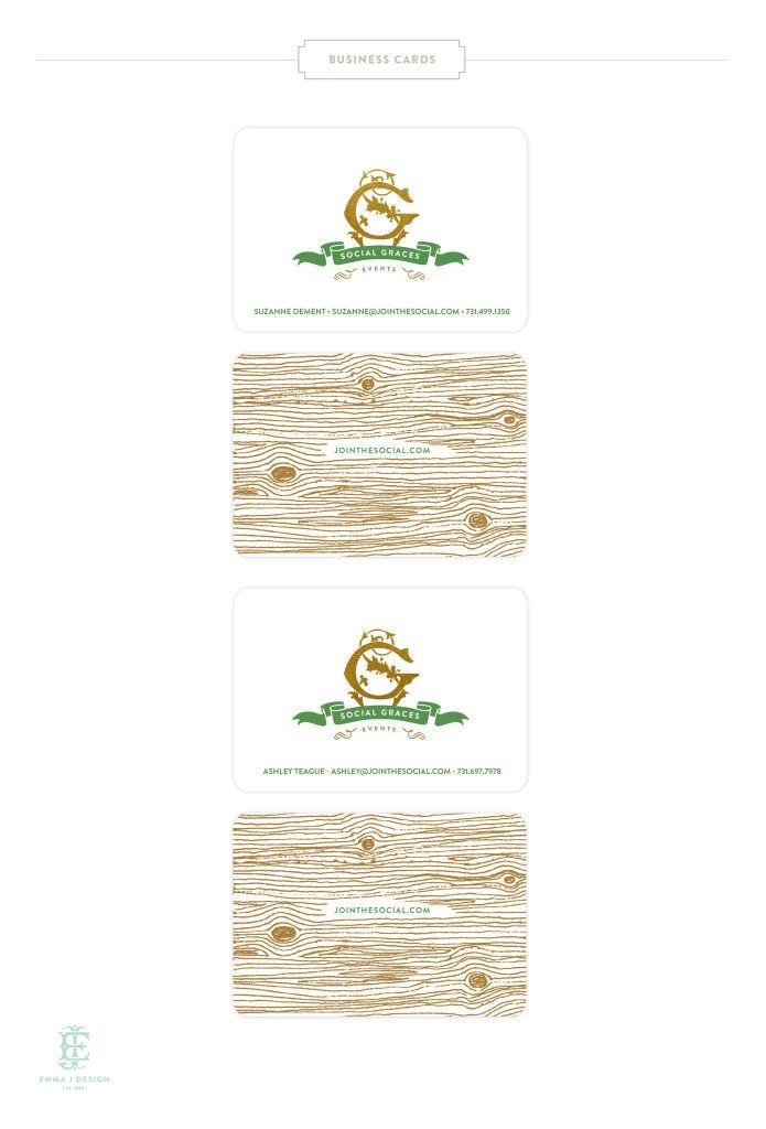 Social Graces Events Branding by Emily McCarthy www.emilymccarthy.com #branding #gold