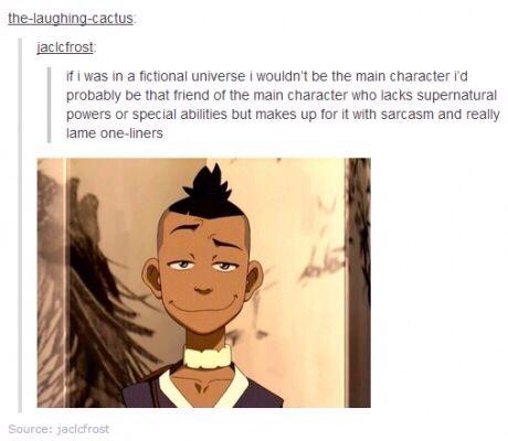 A fictional universe! - Sokka