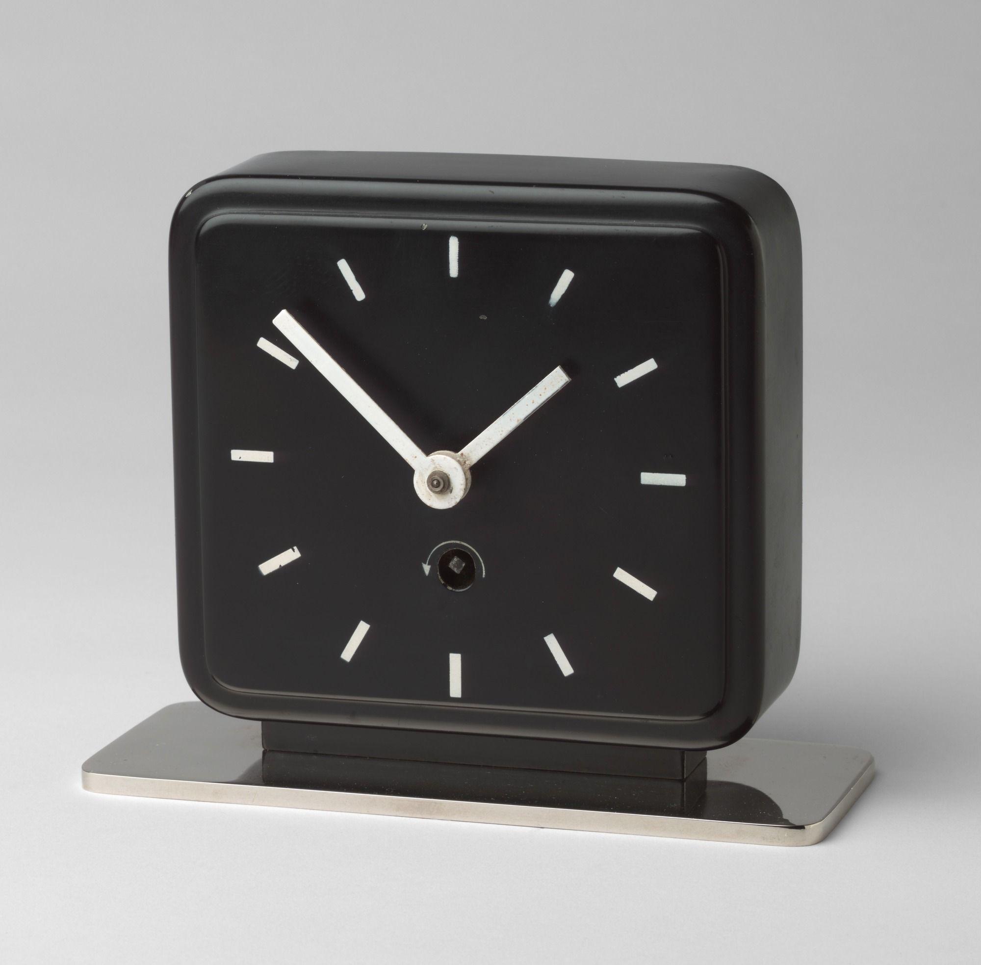 Bauhaus pendant lamp marianne brandt and hans przyrembel 1925 - Marianne Brandt Table Clock C 1930 Ruppelwerk Gmbh Gotha Germany