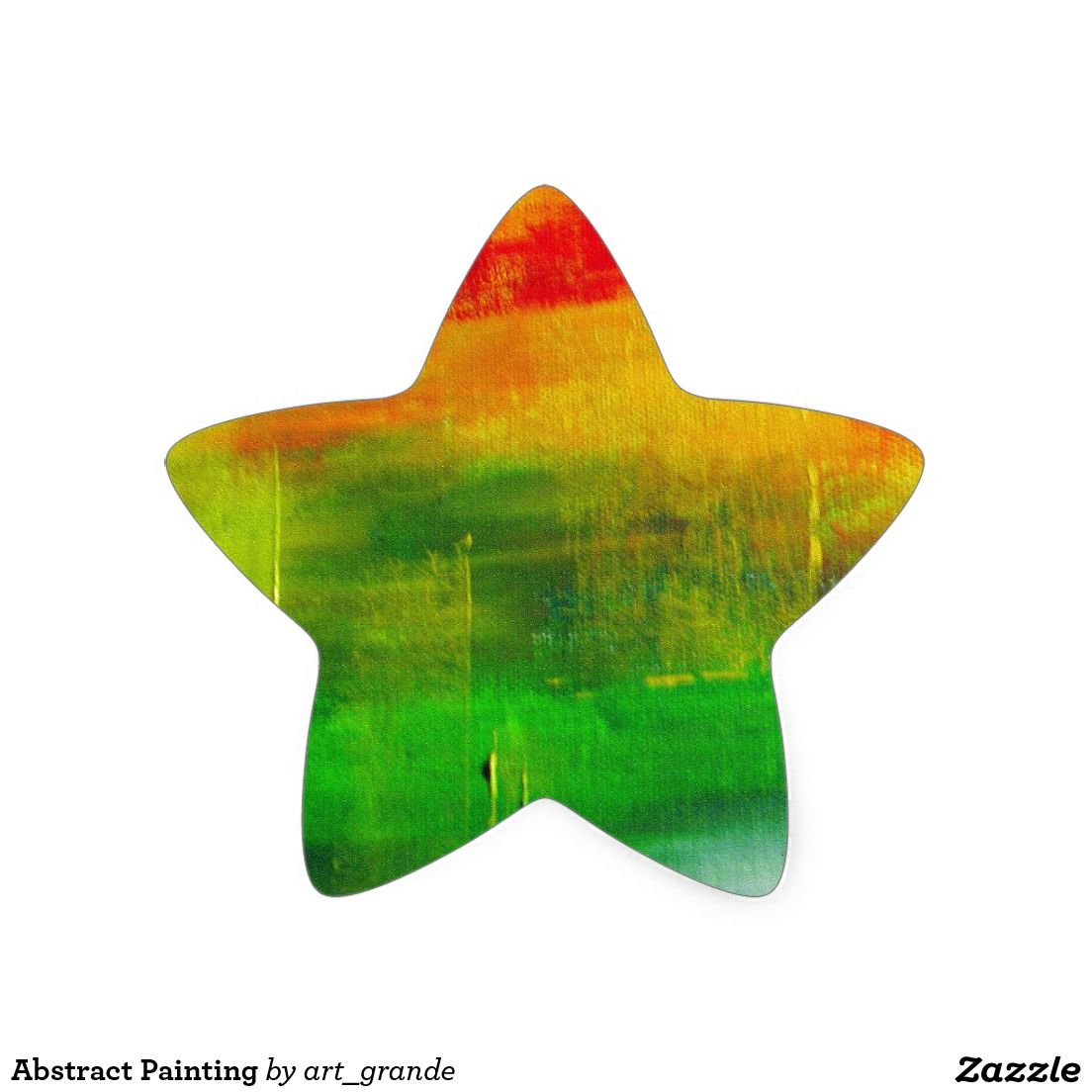 Abstract Painting Star Sticker