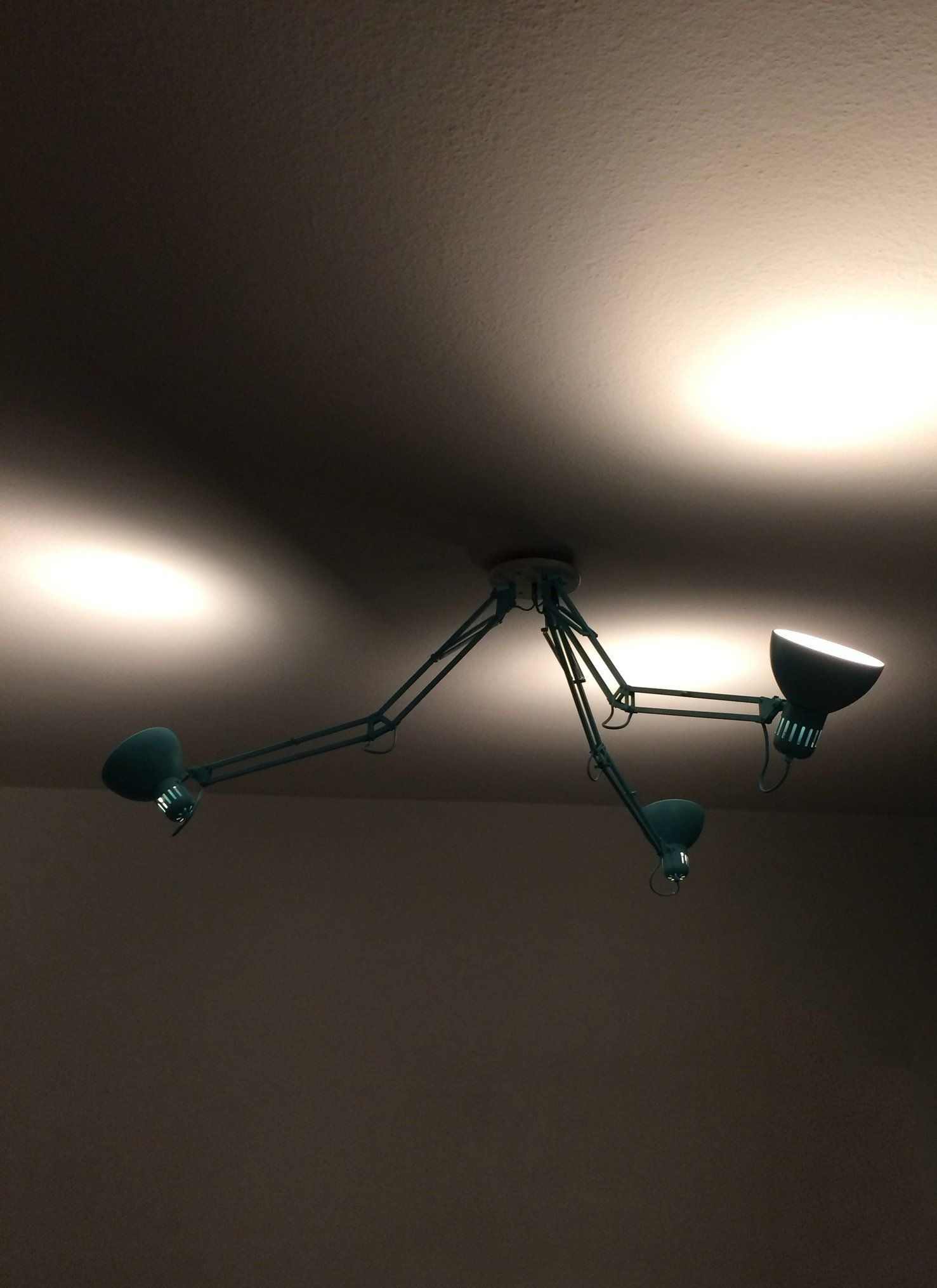 Ikea Hack Flashback Flipped Tertial Lamps Become Single Ceiling Light Ceiling Lights Ikea Hack Light
