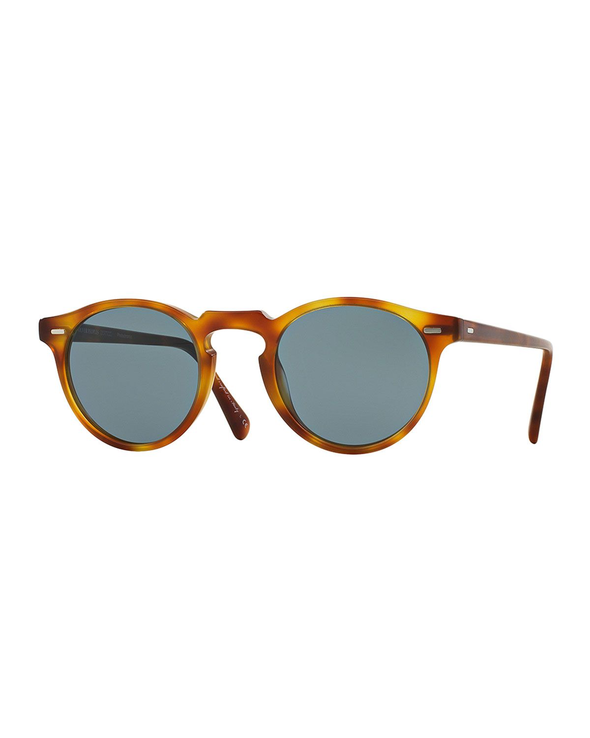 9768ebcf13 OLIVER PEOPLES GREGORY PECK ROUND PLASTIC SUNGLASSES