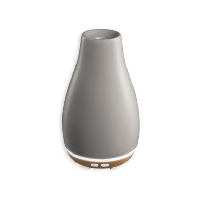 HoMedics® Ellia™ Blossom Ultrasonic Aroma Diffuser in Grey - www.BedBathandBeyond.com