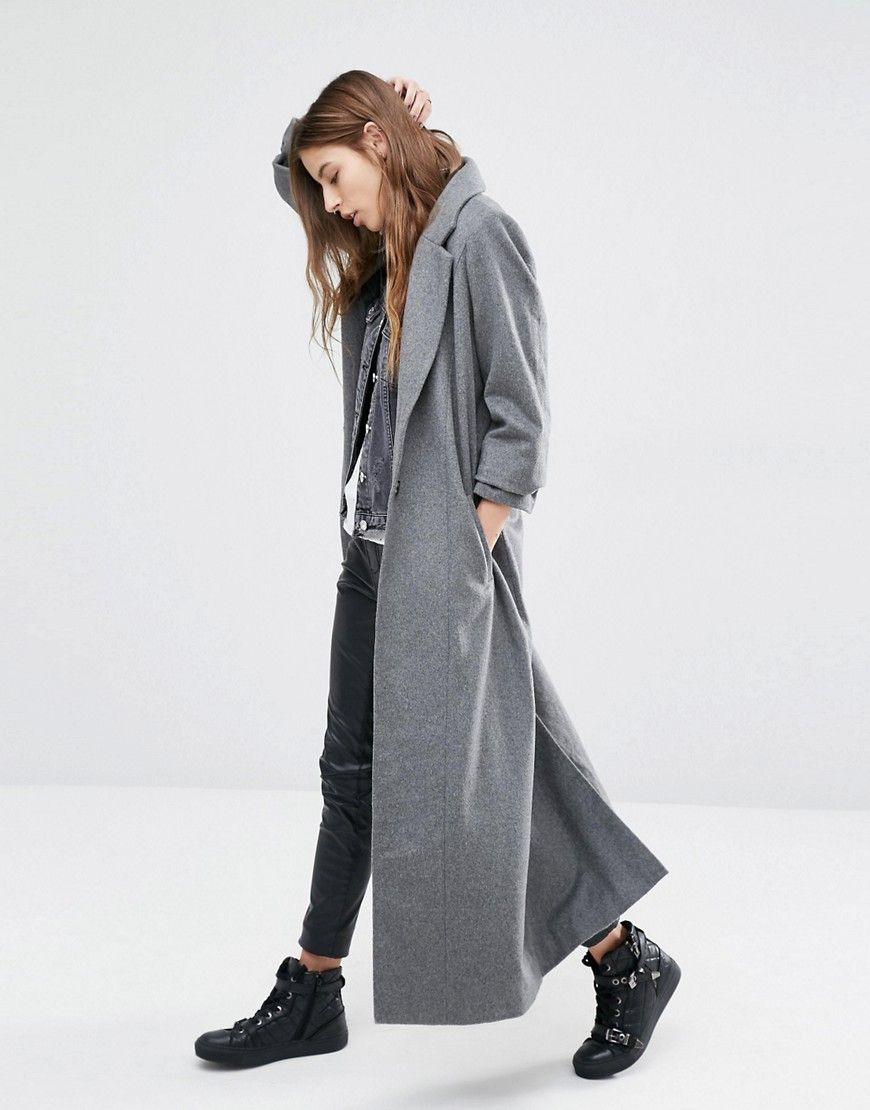 Images of Wool Maxi Coat - Reikian