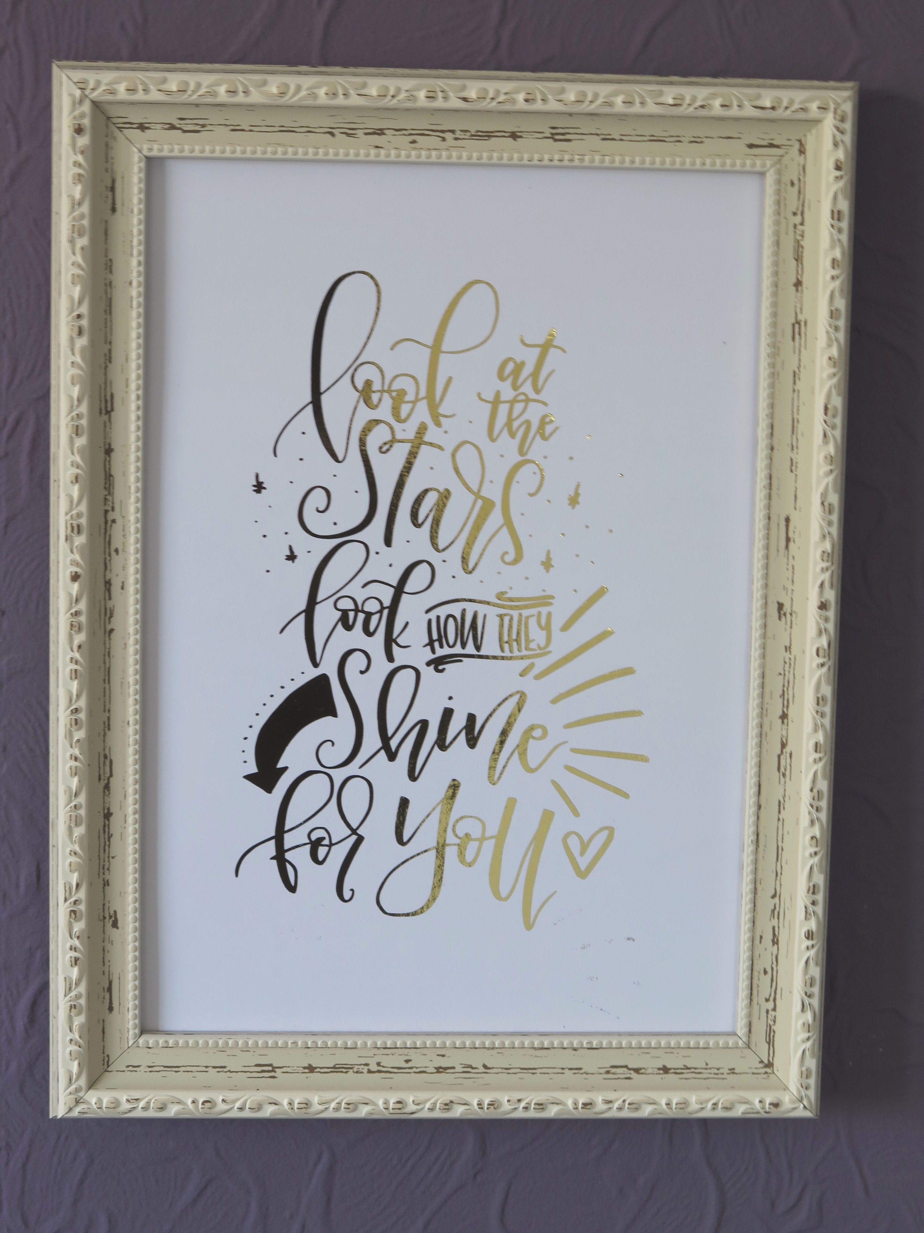 Foiled print by TeenyLetters on Etsy | Coldplay | Yellow