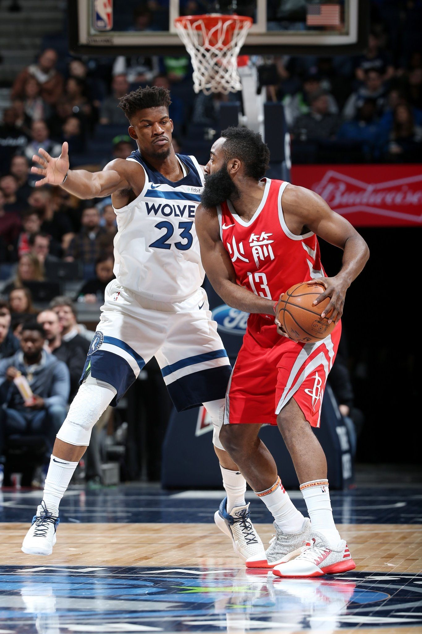 James Harden Being Defended By Jimmy Butler 농구