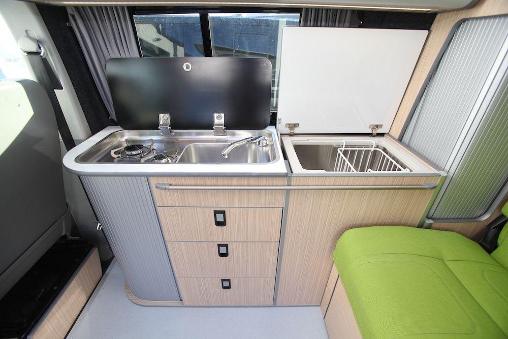Conversion Gallery Vw T5 Campers Kitchen Pods Flat Pack Evo Design Eurovan Heavan
