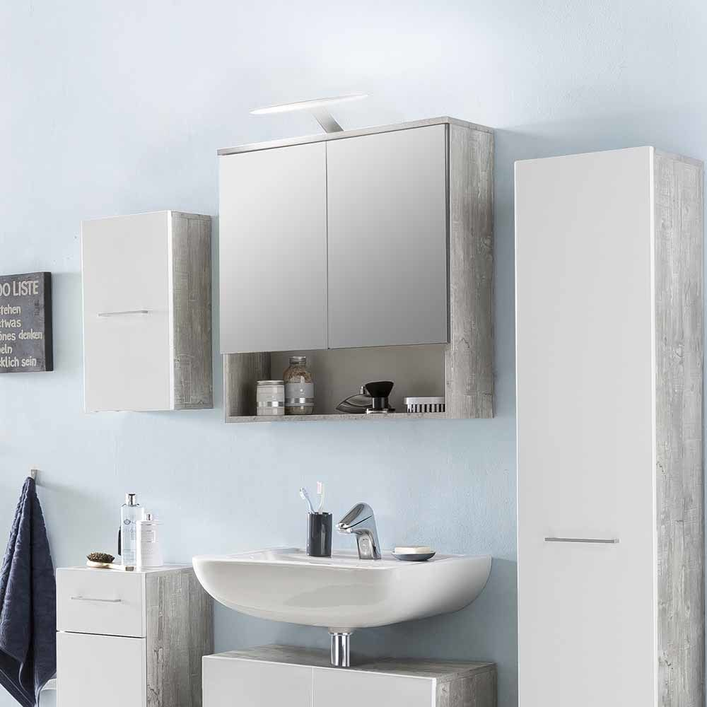 Bad Spiegelschrank in Beton Grau mit Ablage Jetzt bestellen unter ...