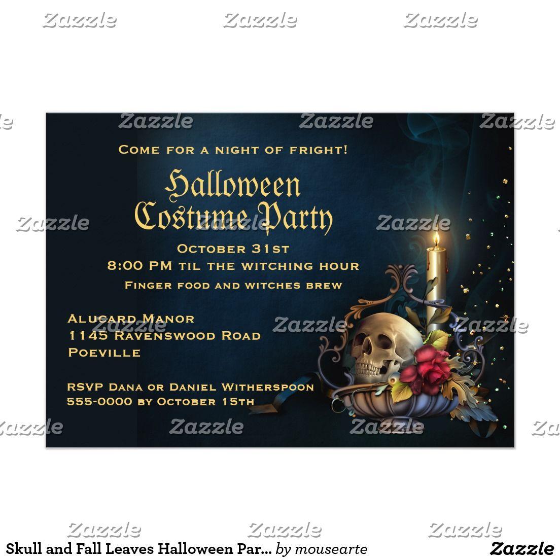 Create your own invitation halloween