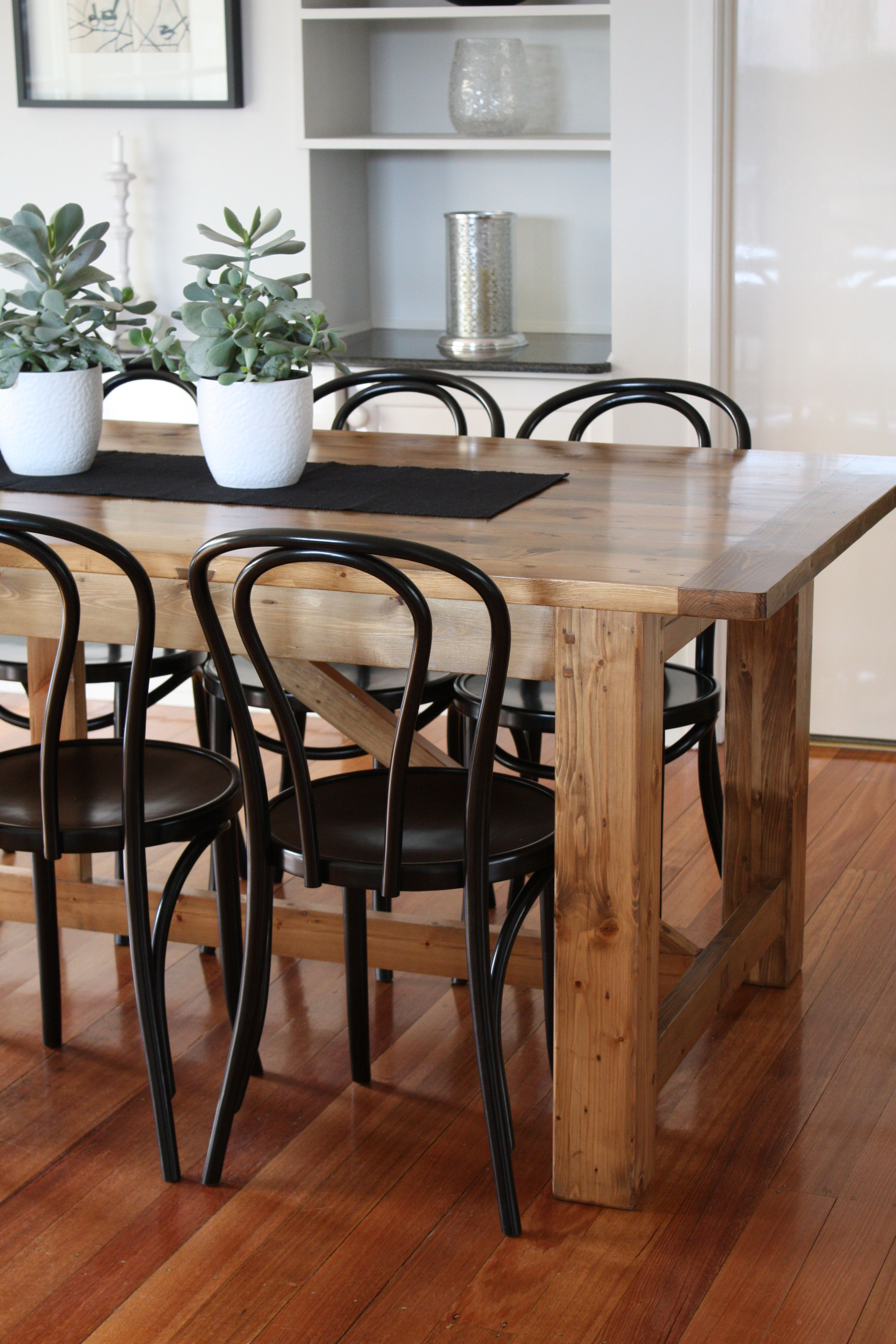 custom made dining table bentwood chairs 13