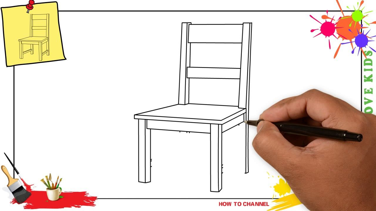 Perfect Chair Drawing Easy Step By And Review In 2020 Easy Drawings Chair Drawing Drawing For Kids