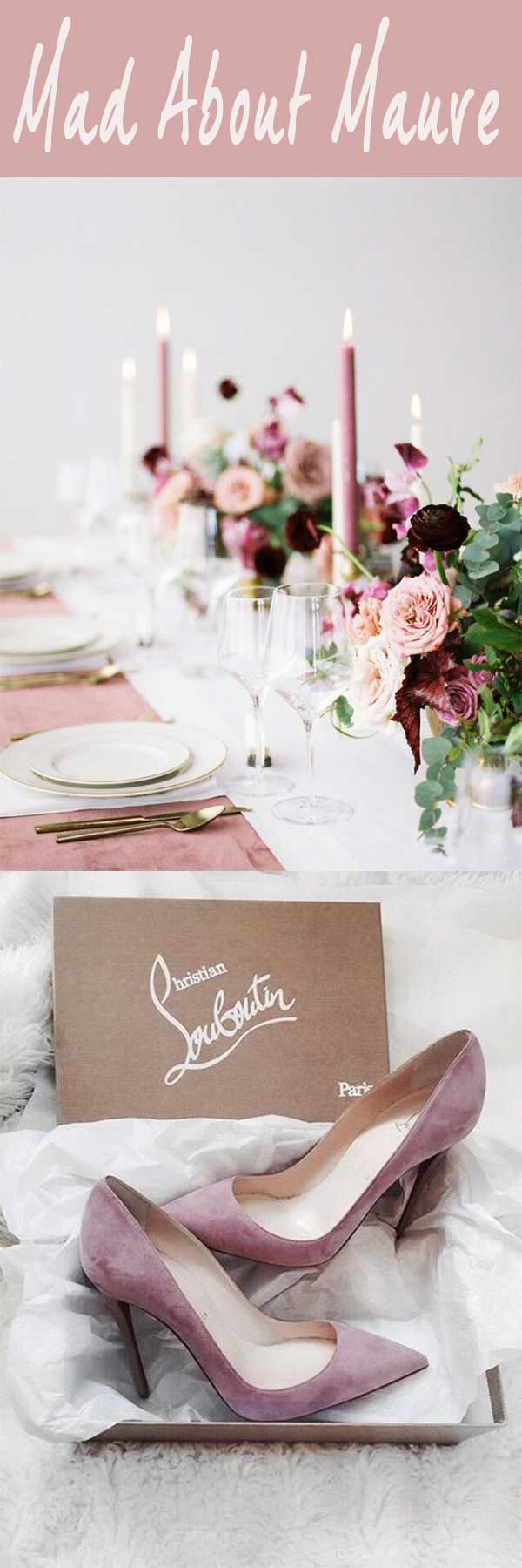 Wedding decorations rustic october 2018  STYLISH u PRETTIEST WEDDING COLOR TREND  SHADE OF MAUVE