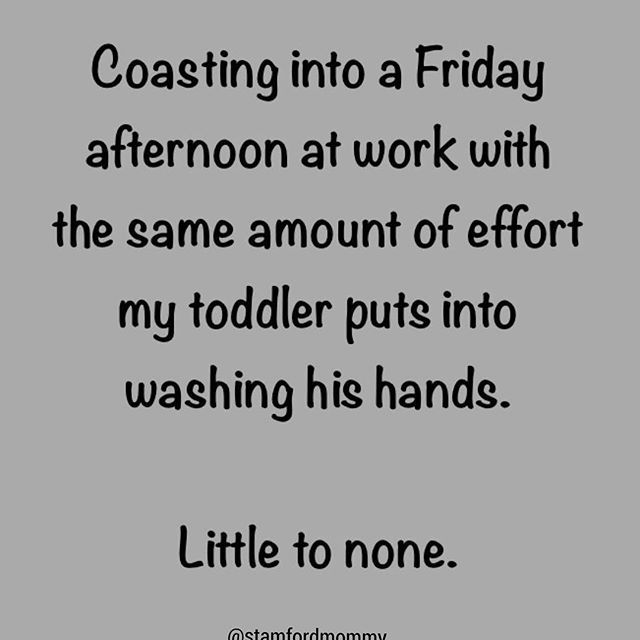 """Pumps a glob of soap, rinses it right down the drain. """"All clean, Mommy!"""" #friyay"""