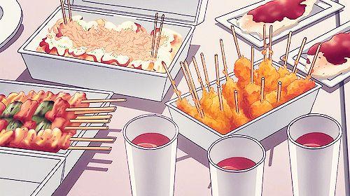 Anime Food Food Illustrations Anime Bento Food Wallpaper