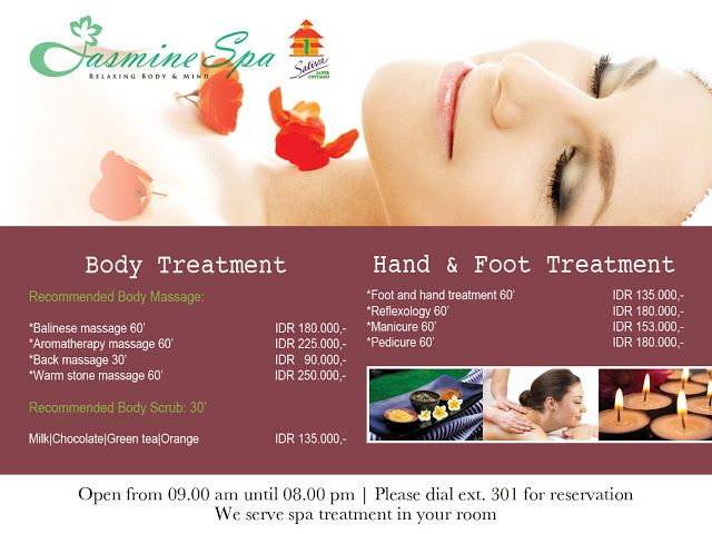 Kumpulan Desain Brosur Spa  Massage  Design    Spa