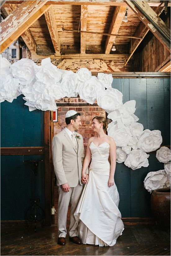 6225b7d3afe2 Rustic Chic Seattle Wedding | Decor & Details For Weddings & Events |  Wedding, Wedding reception backdrop, Paper flower backdrop wedding