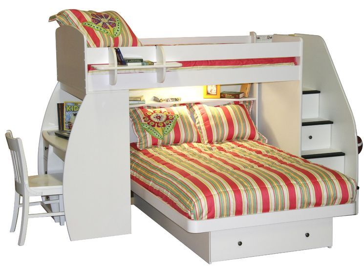 Woodland Twin Over Full With Twin Trundle Layout