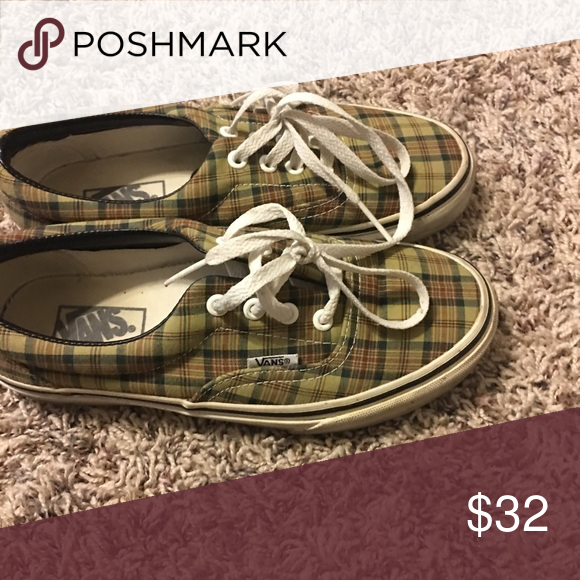 Plaid vans Used once!!! They are cute and like new Shoes Sneakers