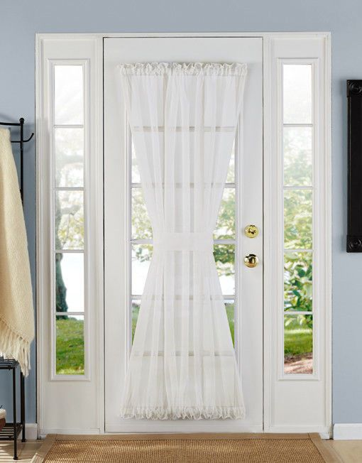 Batiste Sheer French Door Curtain Panel With Tieback By Goodgram Frenchcountry
