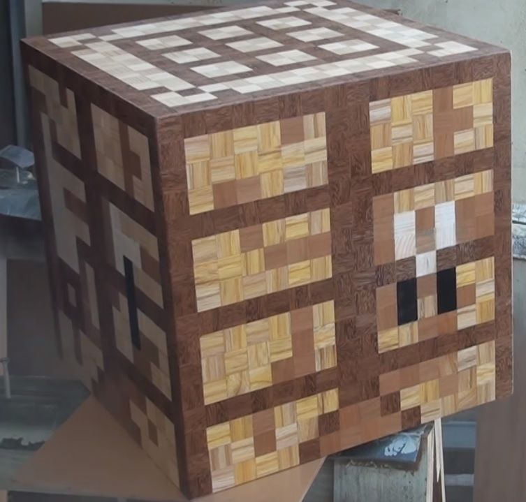 Video Showing How To Make A Wooden Minecraft Crafting Table Craft Table Craft Table Diy Wood Coffee Table Diy
