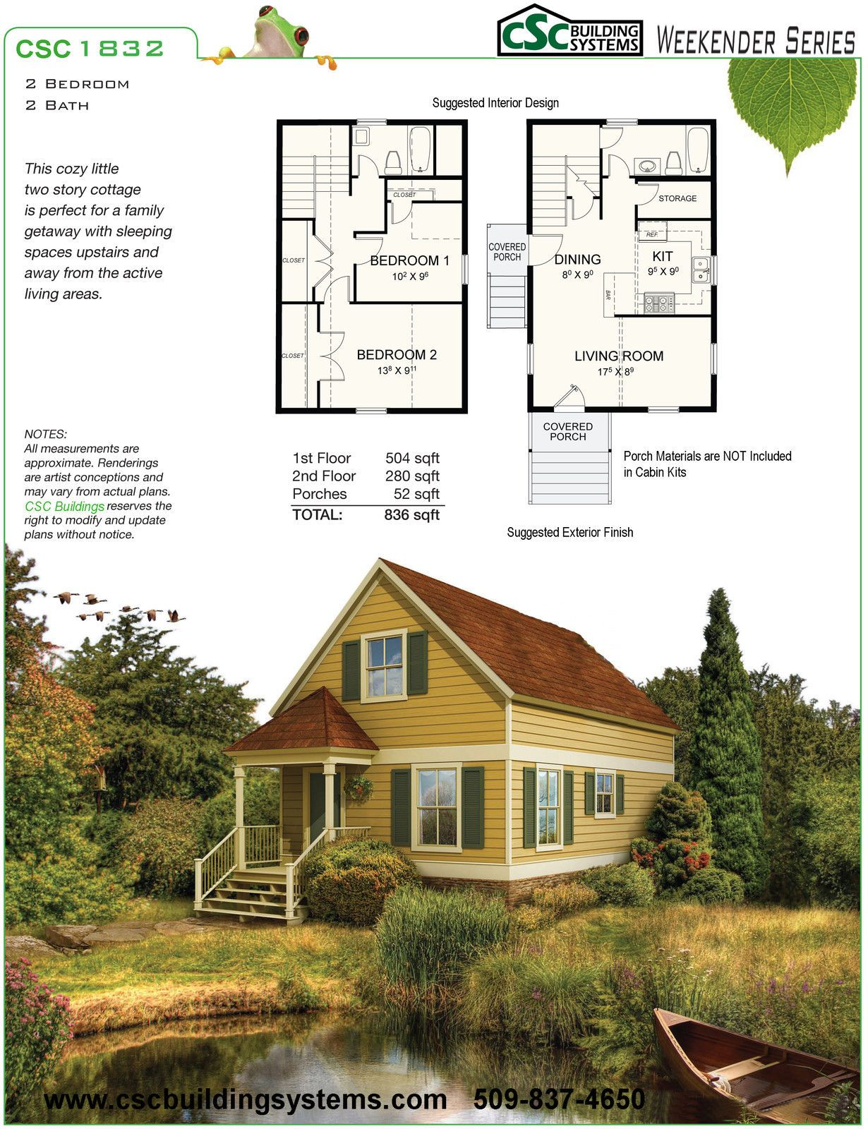Steel Frame Cabin Kit-2 Bedroom, 2 Bath, 836 sqft - FRAME ONLY | LPR ...