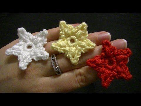 Sterne Häkeln Anleitung Für Anfänger Stern Mit Lochmuster Für