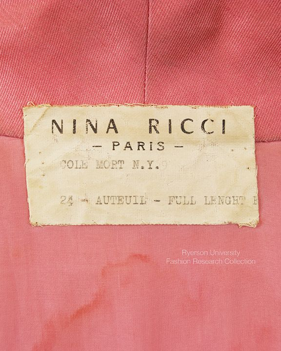 Haute Couture Label Hand Sewn Vintage Labels Vintage Couture Couture Outfits
