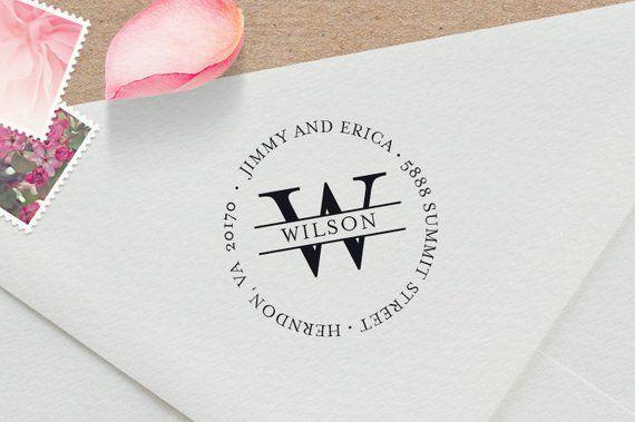 Luxurious Address Stamp Wedding Invitation