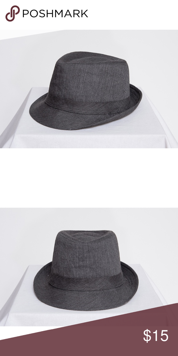 Denim Dark Gray Fedora Hat Zara Man Denim Dark Gray Fedora Hat Small Zara Man Accessories Hats Fedora Hat Fedora Fedora Hat Zara