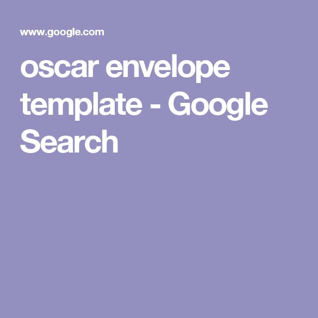 Oscar Envelope Template Google Search Cake Templates Lique Logo Gingerbread