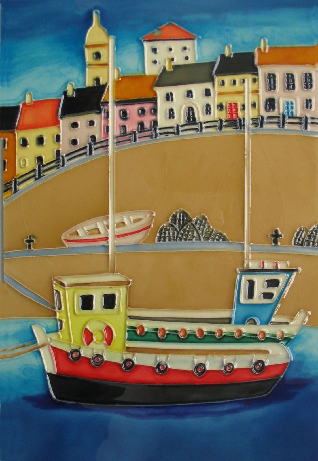 Details about My Harbour Boat Ceramic Wall Art 20x30cm Seaside ...