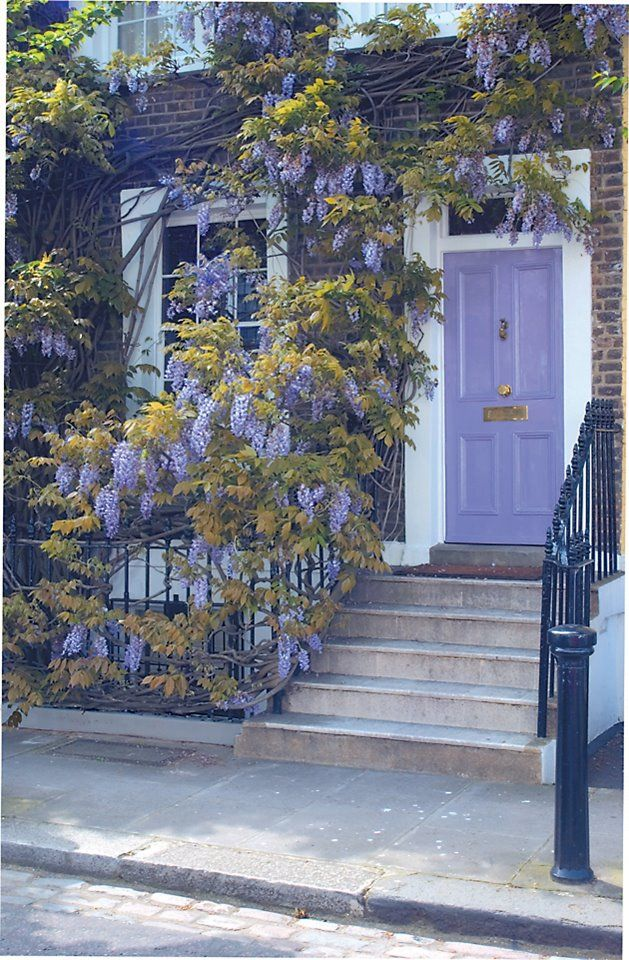 Pollyannapumpkin Purple Door Exterior Beautiful Doors