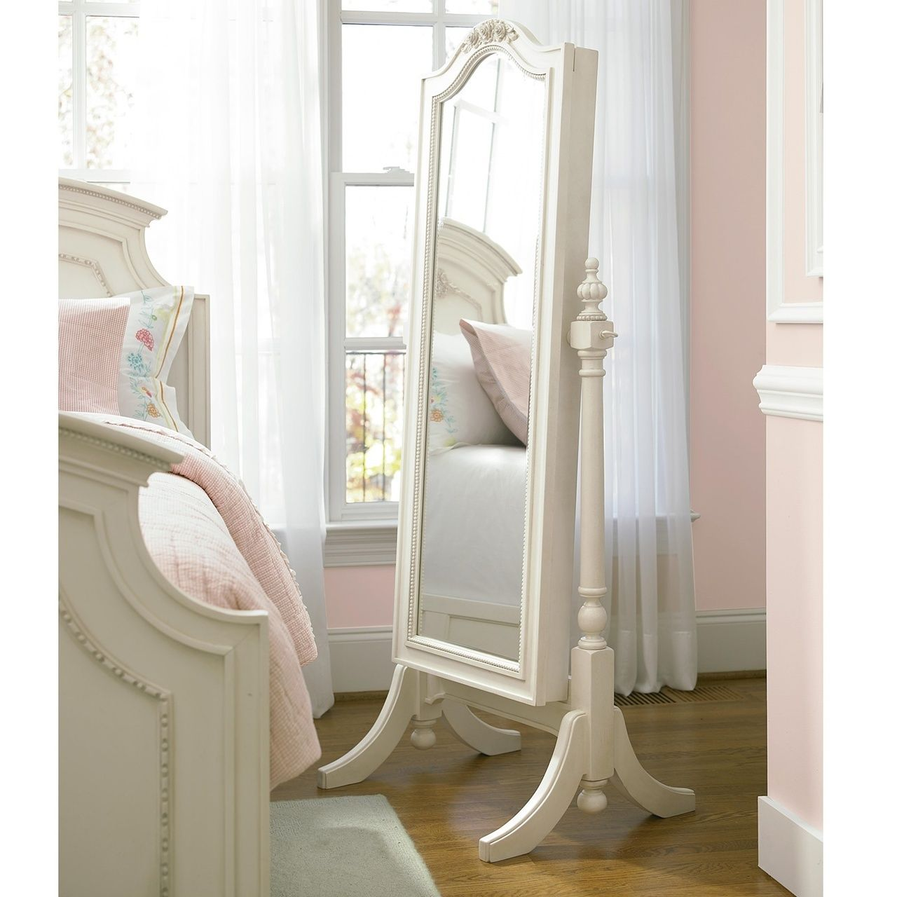 Rosalie White Standing Mirror With Jewelry Storage Modern Bedroom Design Storage Mirror Home