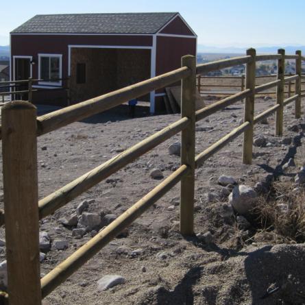 Lodge Pole Fence Composite Cedar Simtek Ornamental Fence