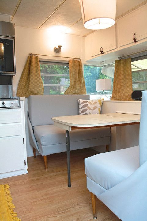vintage camper turned glamper diy renovation there 39 s no place like a camper pinterest. Black Bedroom Furniture Sets. Home Design Ideas