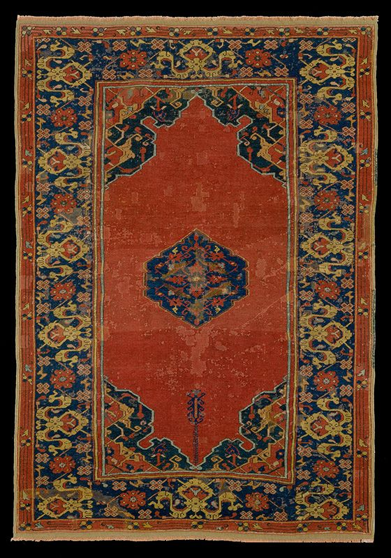 Mcmullan Ushak Small Medallion Rug 17th Century Joseph V Collection The