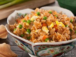 Chopstick Veggie Fried Rice - Make it a homemade take-out night with this easy skillet recipe for fried rice.