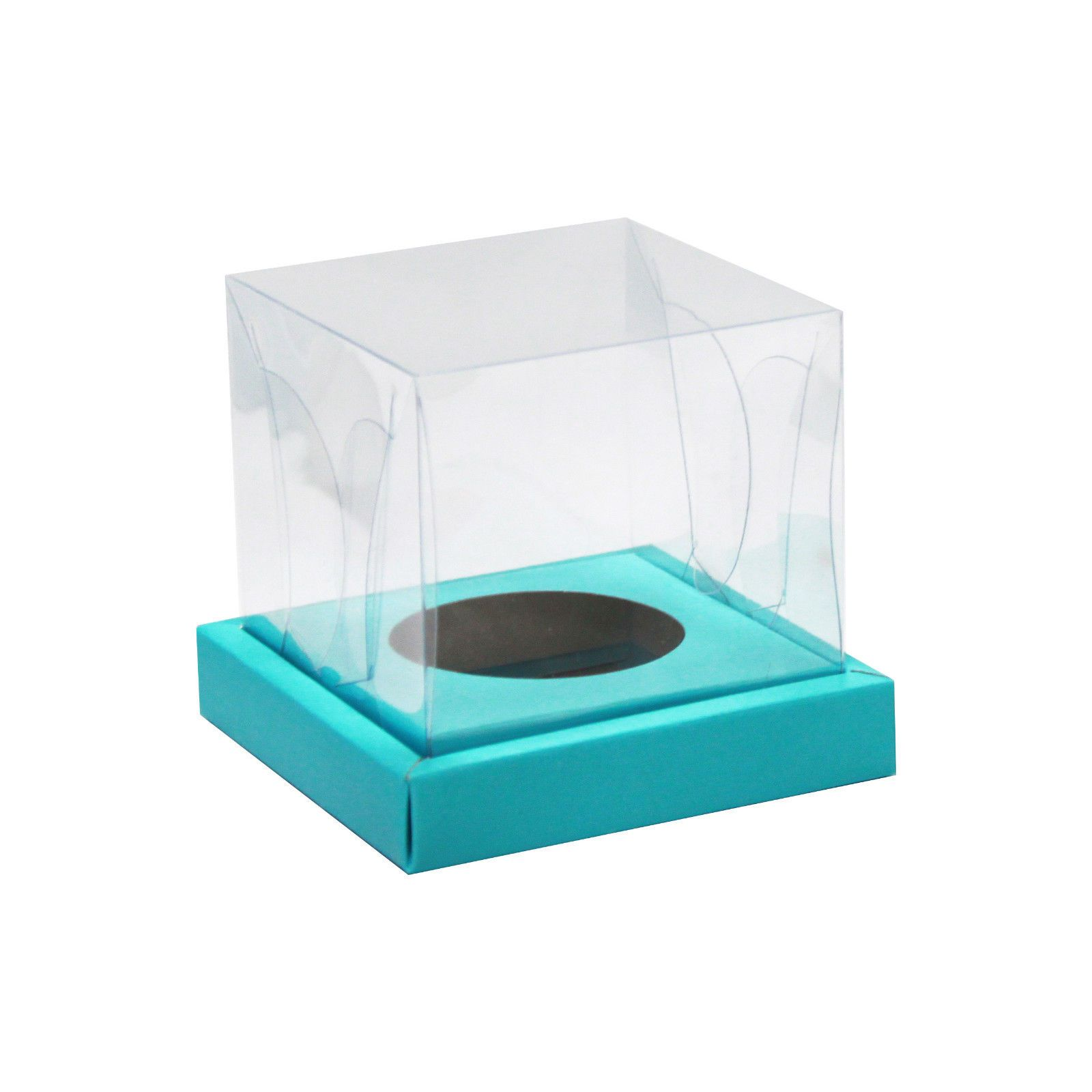 Clear Top Cupcake Boxes Pack of 12 with Insert Individual Favor ...