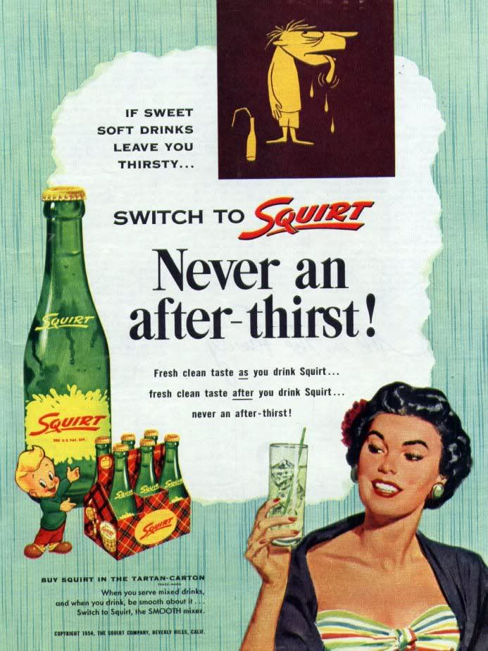 Squirt soda - we always got Squirt when we visited our grandparents. Another item we couldn't get down here.