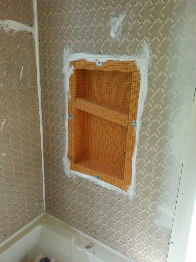 Schluter Shower Niche With Images Shower Tile Subway Tile Showers