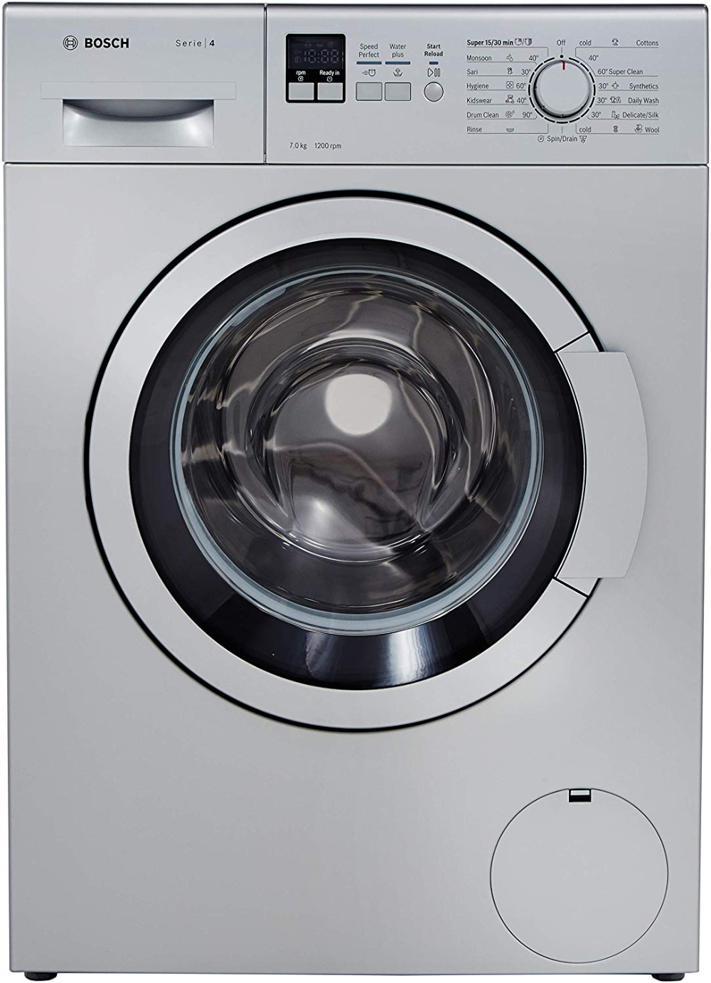 27 Inch Front Load Washer With 4 0 Cu Ft Capacity 11 Washing Programs 1000 Rpm Spin Sd Internal Heater And 56 Db Quiet Operation White