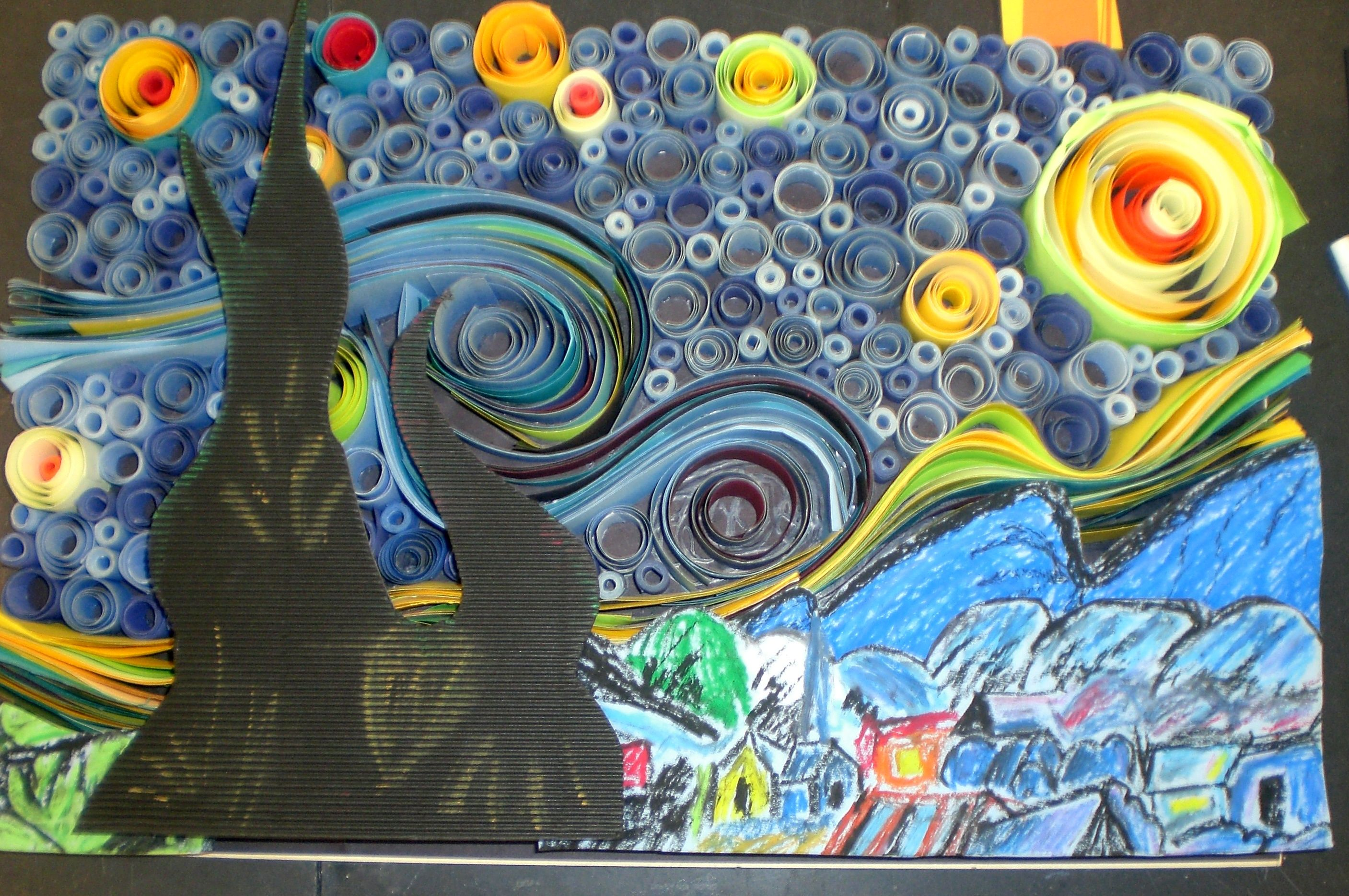 designs by alice 4th grade art project starry night craft